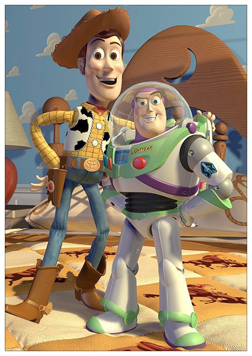 Портретный постер Toy Story / История игрушек